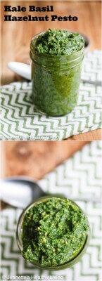 Kale Basil Hazelnut Pesto © Jeanette's Healthy Living
