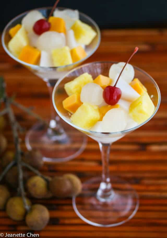 Almond Float with Fresh Fruit © Jeanette's Healthy Living