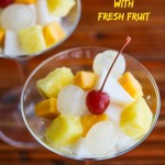 Chinese Almond Float with Fresh Fruit © Jeanette's Healthy Living