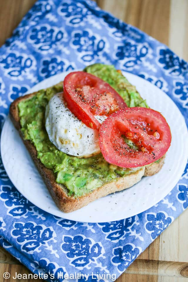 Smashed Avocado Tomato Toast and Poached Egg - this healthy breakfast is so quick and easy to make. I could eat this every day!