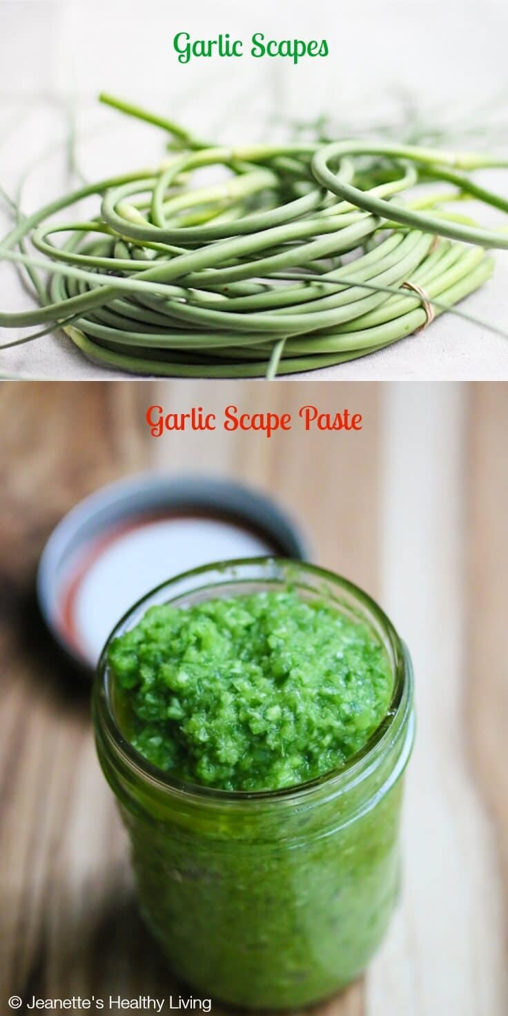 Garlic Scape Paste © Jeanette's Healthy Living