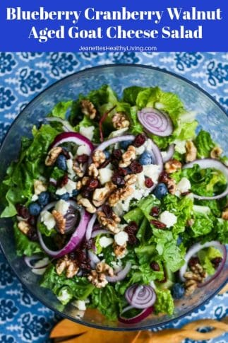 Blueberry Cranberry Walnut Aged Goat Cheese Salad