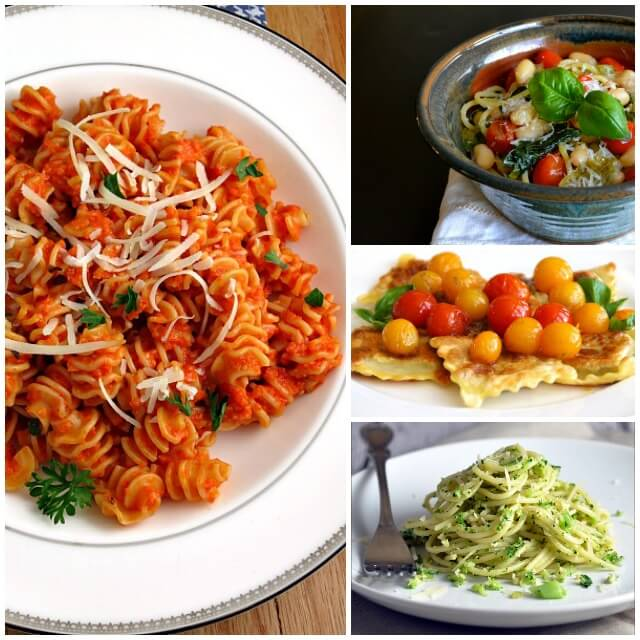 Pasta with Pesto and Fresh Tomatoes