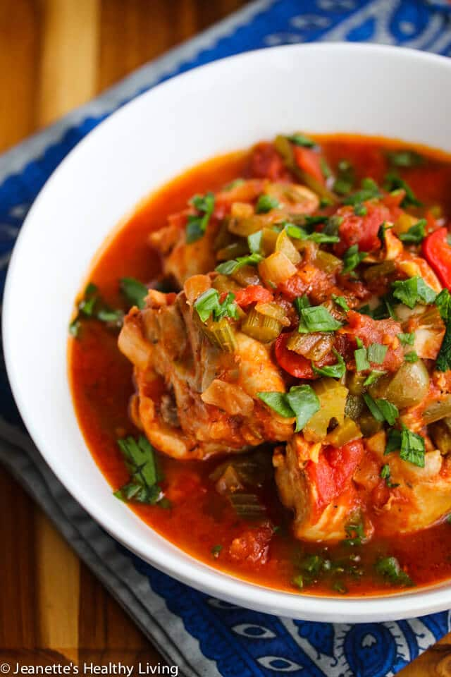 Slow Cooker Creole Chicken Stew and Creole Beans