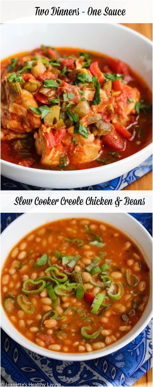 Slow Cooker Creole Chicken and Beans © Jeanette's Healthy Living