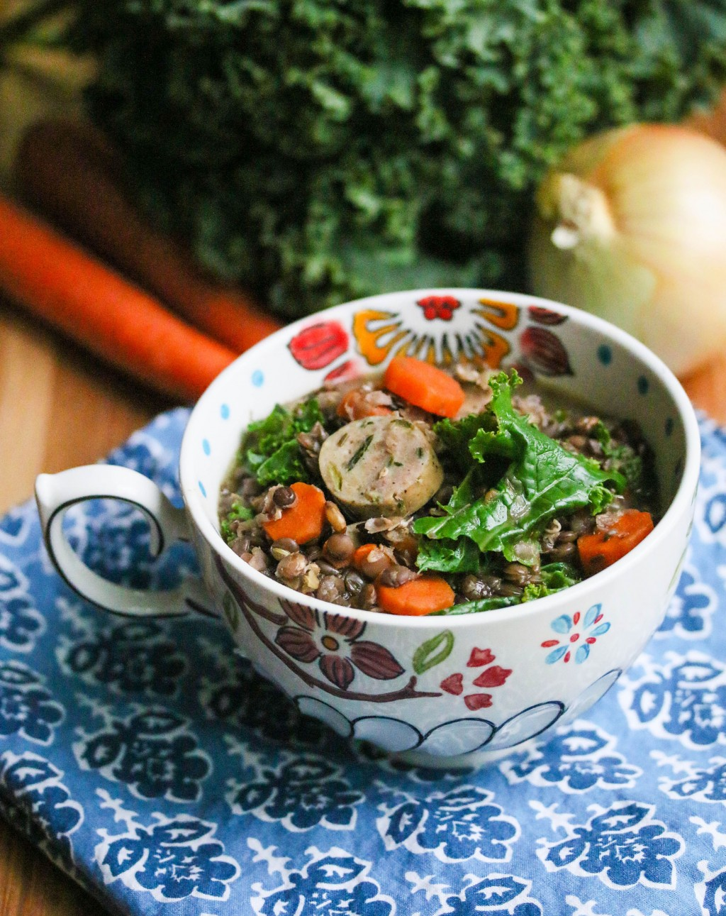 Slow Cooker Lentil Sausage Stew © Jeanette's Healthy Living