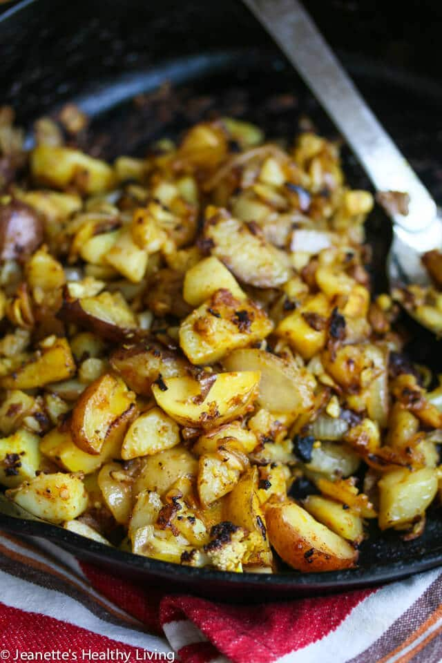 Cauliflower Potato Hash Browns © Jeanette's Healthy Living