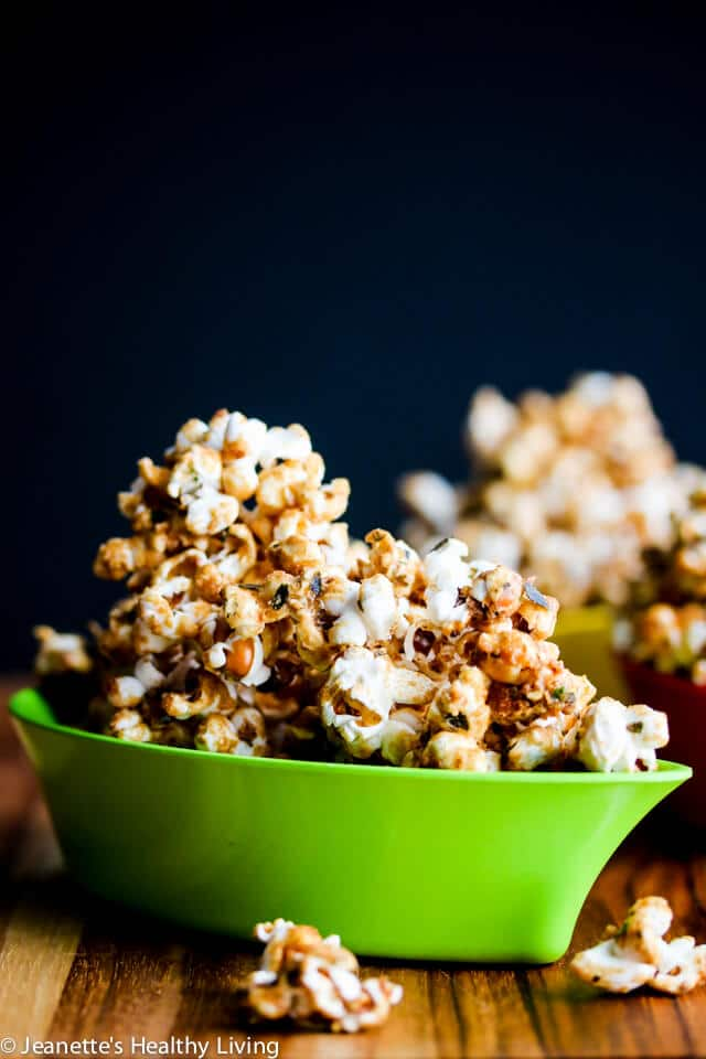 Sweet and Salty Caramel Furikake Popcorn © Jeanette's Healthy Living