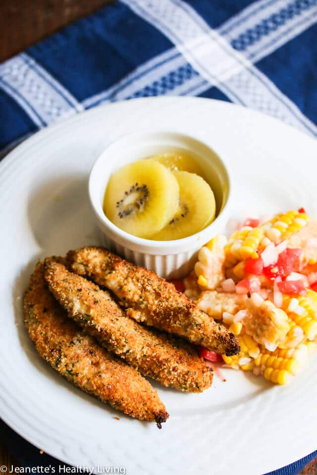 Gluten Free Breadcrumb Crusted Spiced Chicken Tenders
