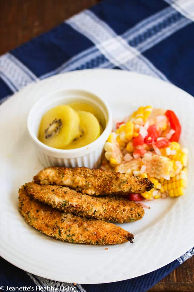 Gluten Free Breadcrumb Crusted Spiced Chicken Tenders © Jeanette's Healthy Living