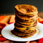 Gluten Free Pumpkin Spice Oat Chocolate Chip Pancakes © Jeanette's Healthy Living