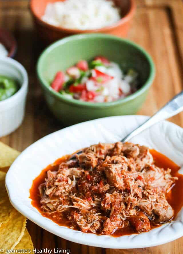Slow Cooker Chicken Tinga Tacos Recipe Jeanette S Healthy Living
