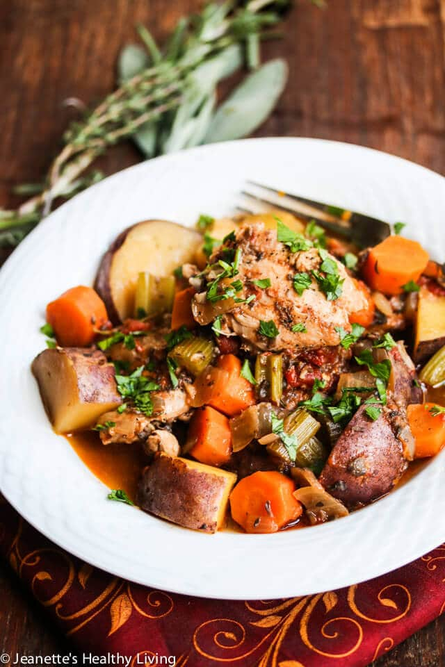 Slow Cooker Chicken Vegetable Stew Recipe Jeanette S Healthy Living
