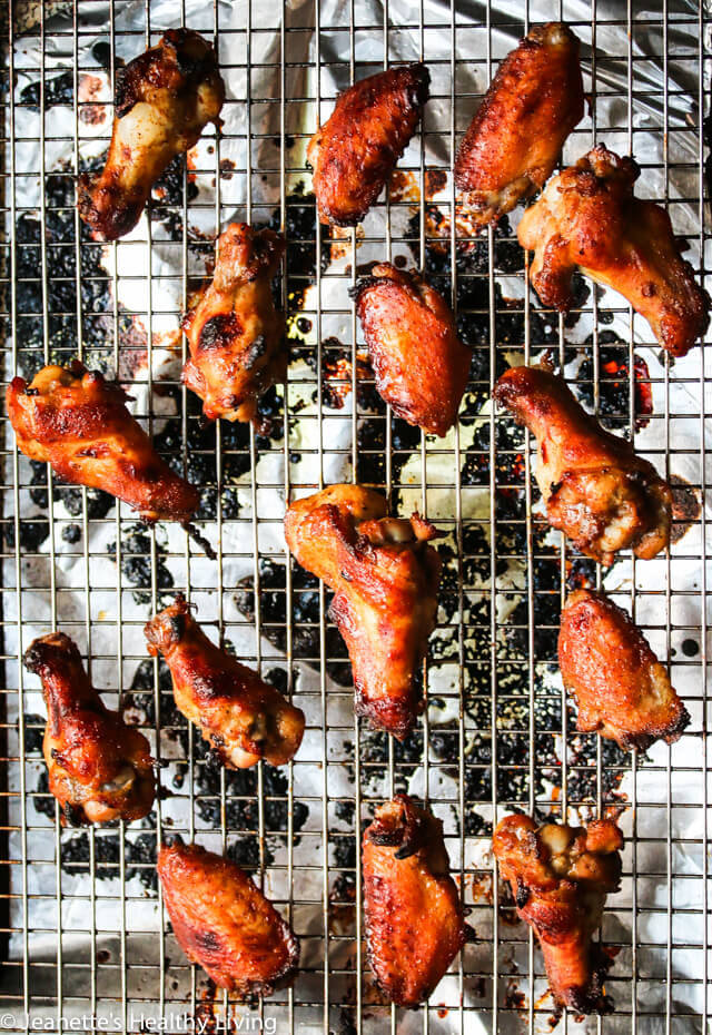 Spicy + Sweet Baked Chicken Wings