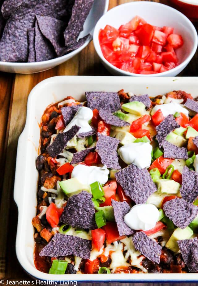 Gluten-Free Turkey Taco Nacho Casserole © Jeanette's Healthy Living