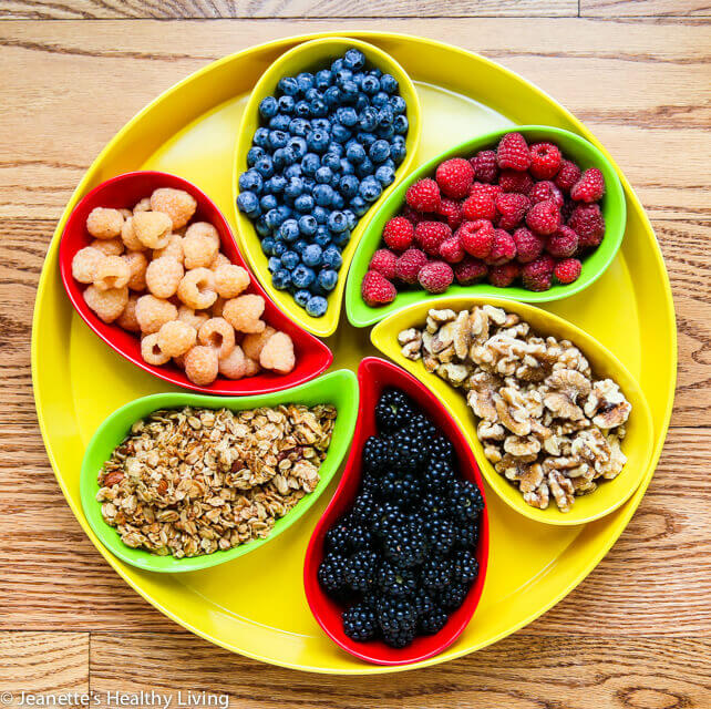 Fruits and Nuts served in Yumi Nature™ Serving Platter © Jeanette's Healthy Living