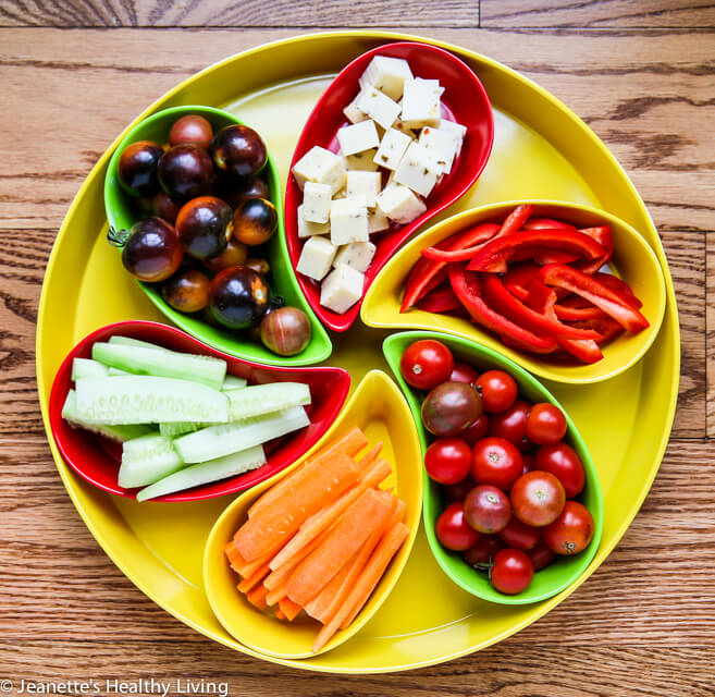 Healthy Snacks served in Yumi Nature™ Serving Platter © Jeanette's Healthy Living