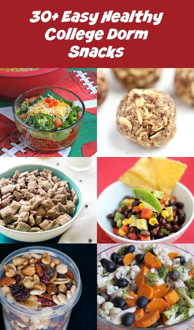 30 Easy Healthy College Dorm Snack Recipes - these healthy recipes require little or no cooking