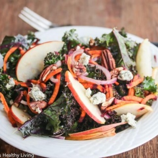 Kale Apple Carrot Blue Cheese Pecan Salad Recipe