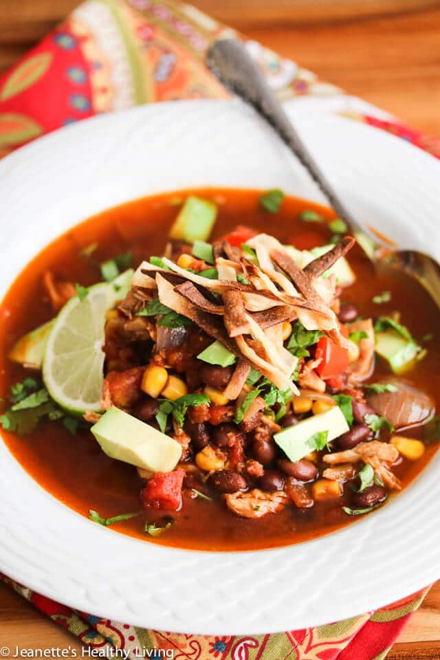 Slow Cooker Chicken Chili Tortilla Soup - this is so easy to make, perfect for a cold winter day