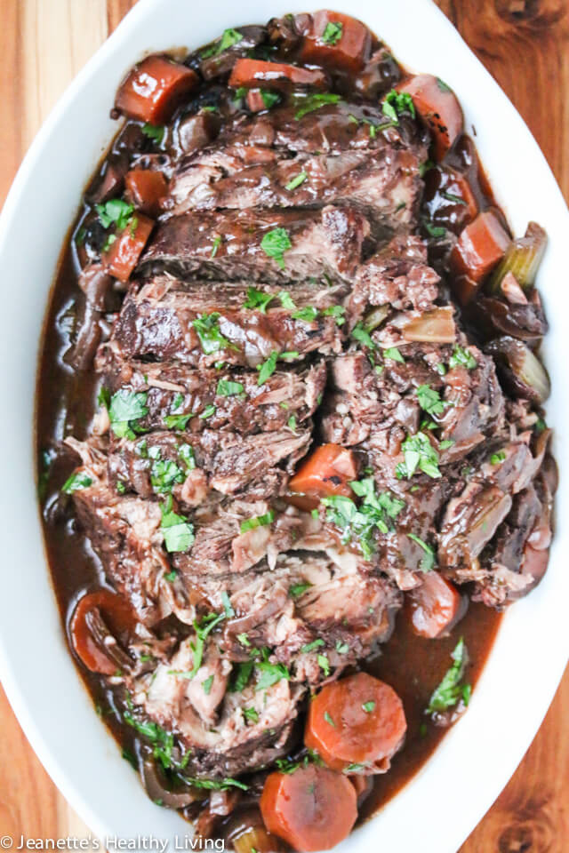 Slow Cooker Red Wine Pot Roast Recipe Jeanette S Healthy Living