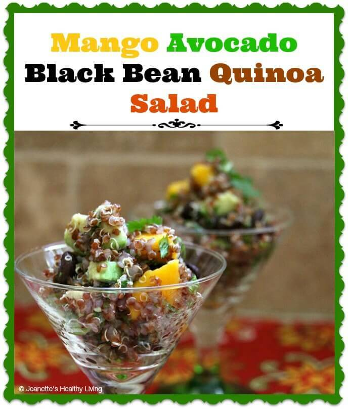 Mango Avocado Black Bean Quinoa Salad