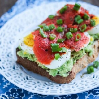 Smashed Avocado Toast with Egg and Smoked Salmon