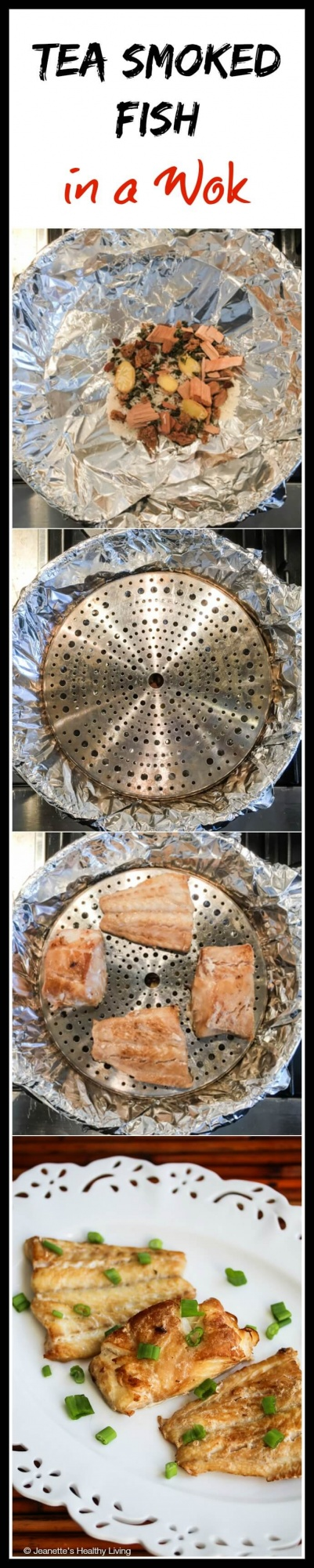 Tea Smoked Fish in a Wok - this post shows how easy it is to smoke fish at home - no need for an expensive smoker