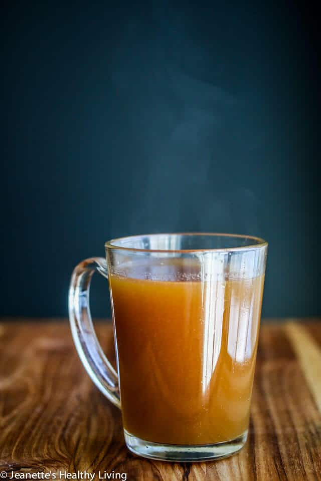 Mineral Rich Beef Bone Broth - drink a mug of this mineral rich bone broth - it's healthy and nourishing, and facilitates digestion