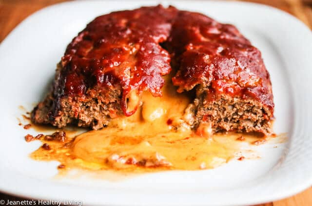 Cheese Stuffed Quinoa Mushroom Turkey Meatloaf - this decadently delicious meatloaf is made healthier with quinoa and a whole pack of mushrooms
