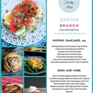 Gluten-Free Easter Brunch Menu - muffins, pancakes, quiche, frittatas and more; all you need is a fresh fruit platter or fruit salad to round this menu out