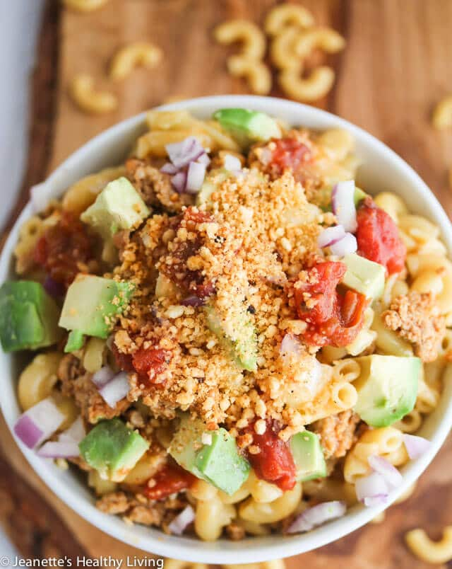 Gluten Free Mexican Taco Nacho Mac and Cheese - a quick, easy, healthy and delicious kids dinner recipe + 3 tips on how to get your kids active in the kitchen
