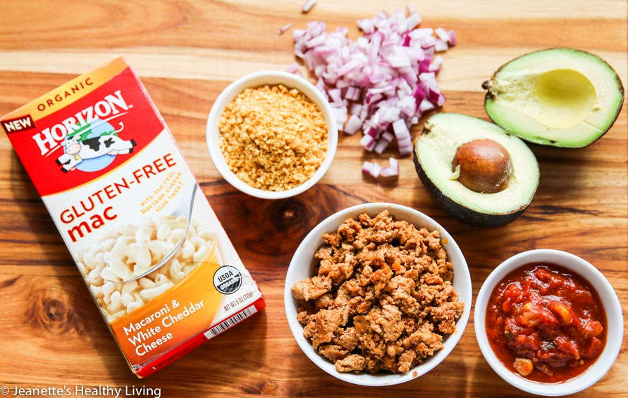 Gluten Free Mexican Taco Nacho Macaroni and Cheese - a quick, easy, healthy and delicious kids dinner recipe + 3 tips on how to get your kids active in the kitchen