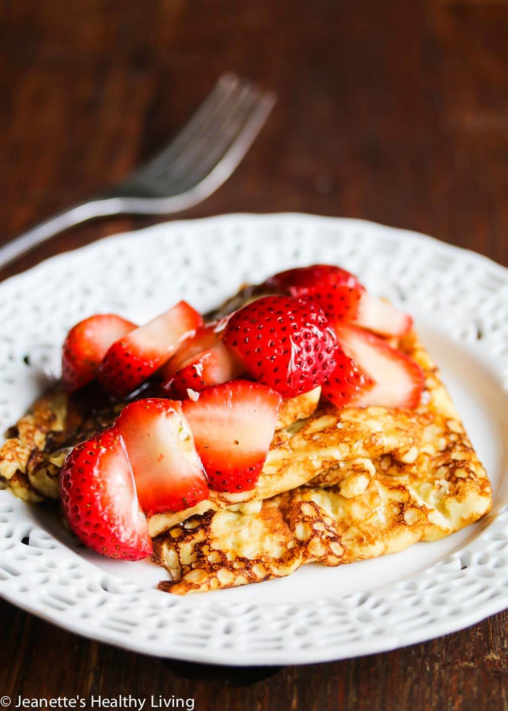 Gluten-Free Swedish Pancakes with Fresh Strawberries