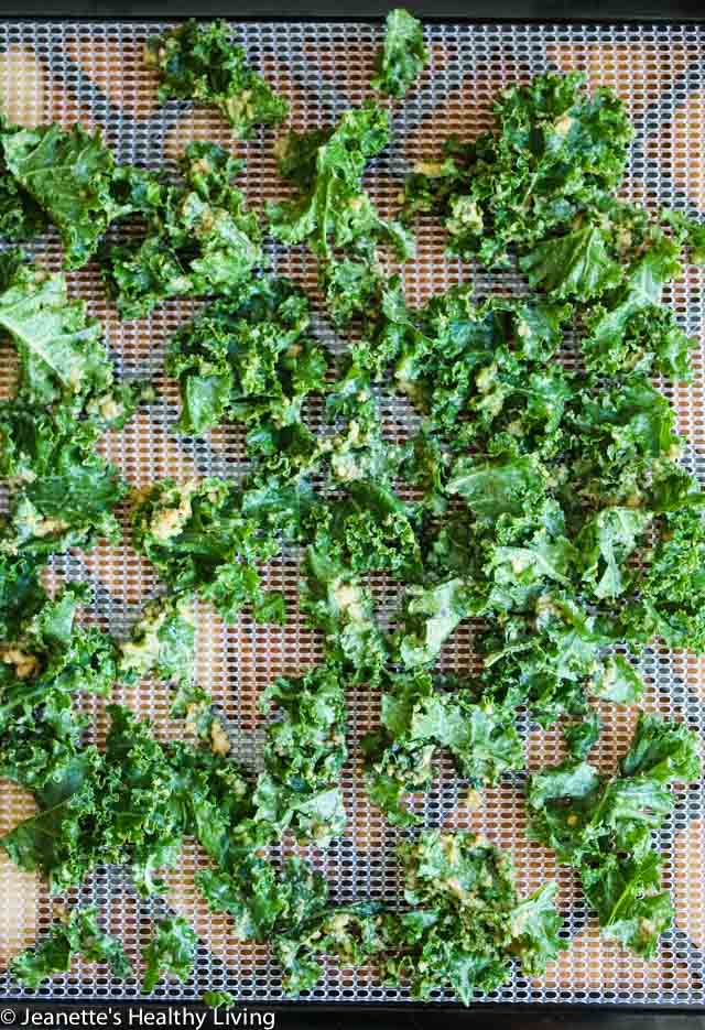 Cashew Miso Kale Chips - these crispy kale chips are packed with umami flavor and make a healthy snack
