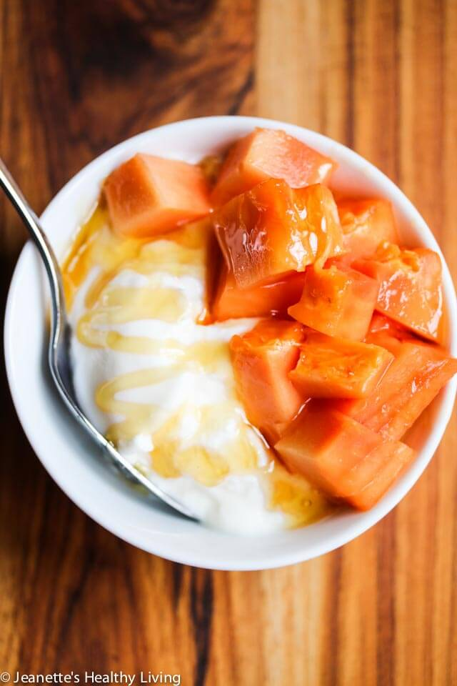 SCD GAPS Diet Yogurt with Papaya and Honey