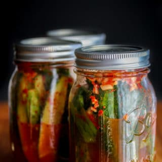 Spicy Korean Cucumber Kimchi Refrigerator Pickles Recipe
