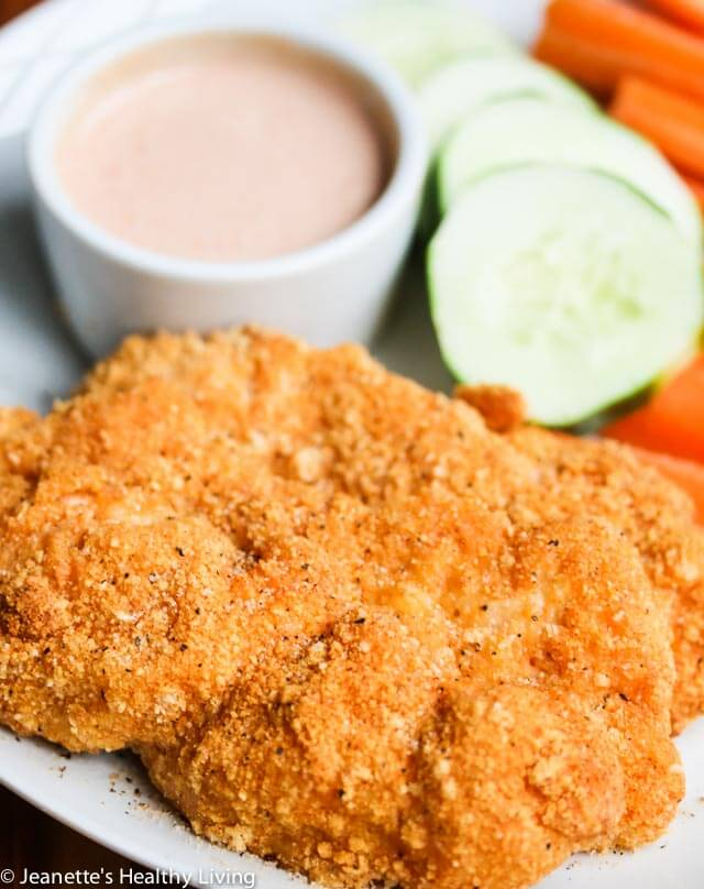 Gluten-Free Spicy Baked Chicken Tenders with Secret Sauce - creole seasoning spices up these chicken tenders and the sweet and tangy secret sauce is the perfect way to cool them down