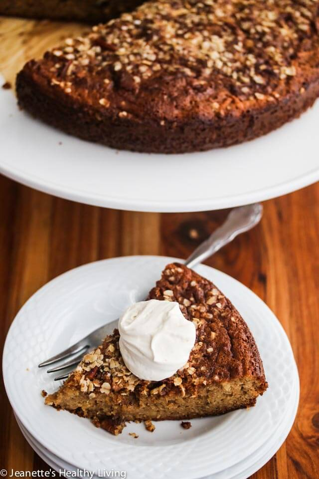 Gluten-Free Apple Streusel Cake - this is the perfect Fall cake - it's even healthy enough for breakfast