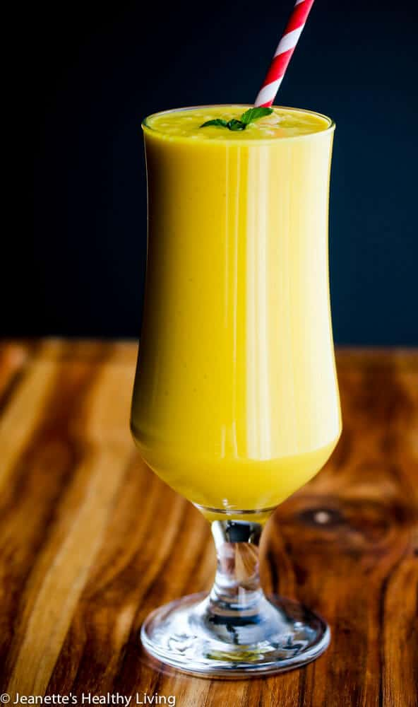 Dairy-Free Mango Coconut Milk Smoothie - this tropical fruit smoothie is healthy, delicious and perfect for breakfast or an afternoon pick-me-up