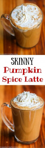 Skinny Pumpkin Spice Latte - enjoy this copycat Starbucks favorite for just 190 calories!