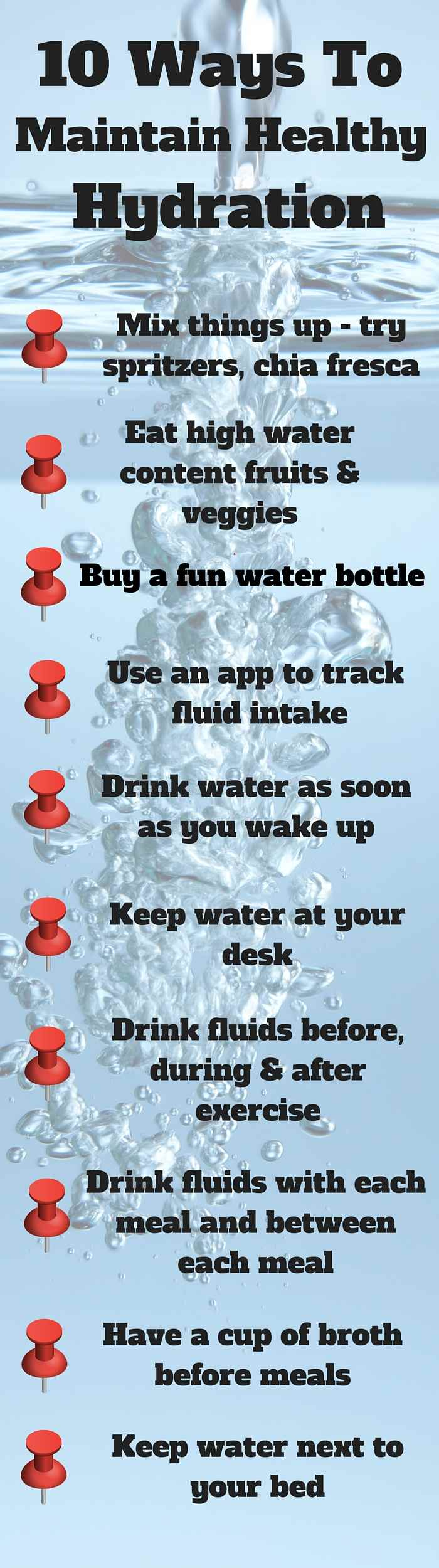 10 Ways To Maintain Healthy Hydration - try these tips to help stay hydrated throughout the year