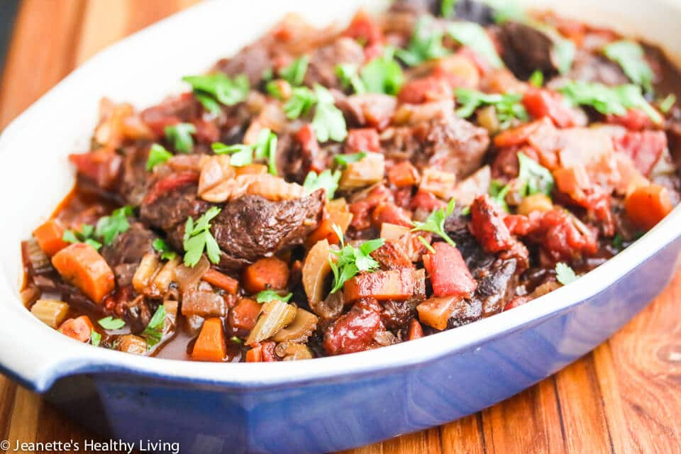 Slow Cooker Red Wine Beef Shank Stew Recipe Jeanette S Healthy Living
