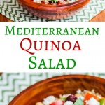 Mediterranean Quinoa Salad - this healthy salad has all the flavors of a Greek salad. It's filling, yet light - delicious and so good for you!
