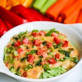 Skinny Queso Cheese Guacamole Dip Recipe