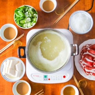 Chinese Mongolian Hot Pot - celebrate Chinese New Year with this one pot dinner. It's just like fondue with a special dipping sauce