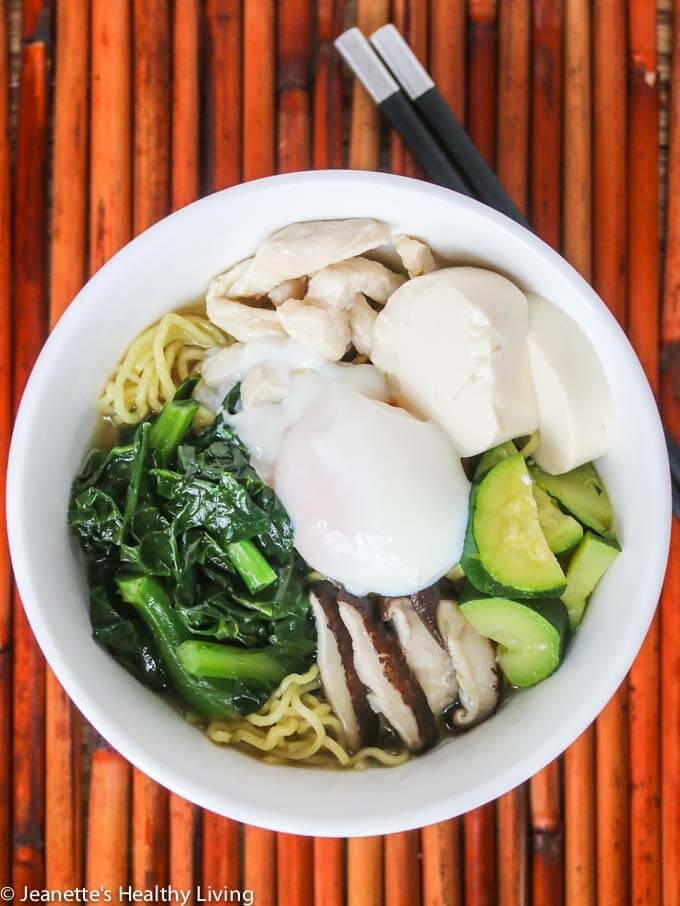 Healthy Ramen Noodle Soup - this one bowl meal is light, healthy and delicious!
