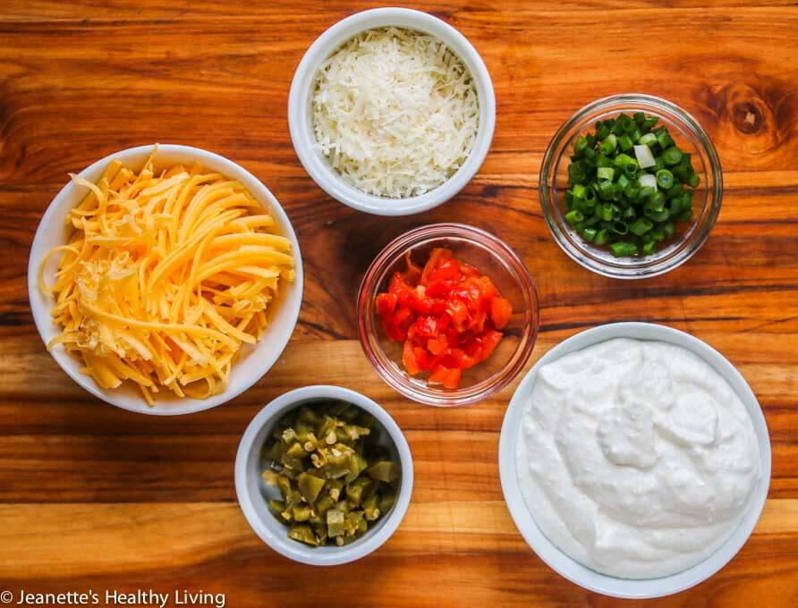 Light Jalapeno Popper Dip - this lightened up version of a favorite dip is perfect for Game Day!