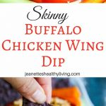 Skinny Buffalo Chicken Wing Dip - this lightened up dip is a game day favorite - the crunchy topping adds a special touch