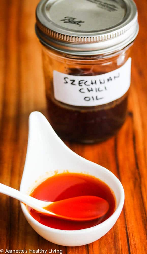 Szechwan Hot Chili Oil - this bright red chili oil is fragrant and spicy, and is used in many Szechwan dishes - a kitchen staple